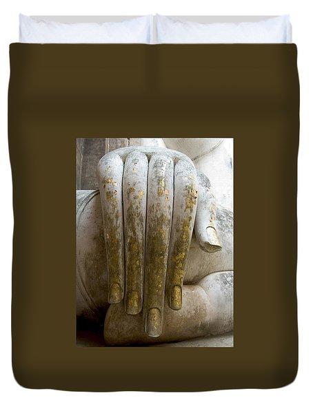 Buddha Hand Duvet Cover by Zina Zinchik