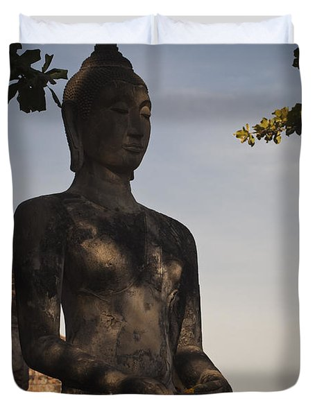 Buddha In Wat Mahathat Duvet Cover