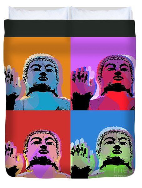 Buddha Pop Art - 4 Panels Duvet Cover