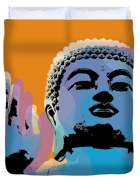 Buddha Pop Art - Warhol Style Duvet Cover
