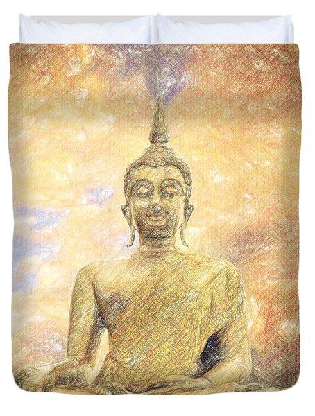 Buddha Duvet Cover by Taylan Apukovska