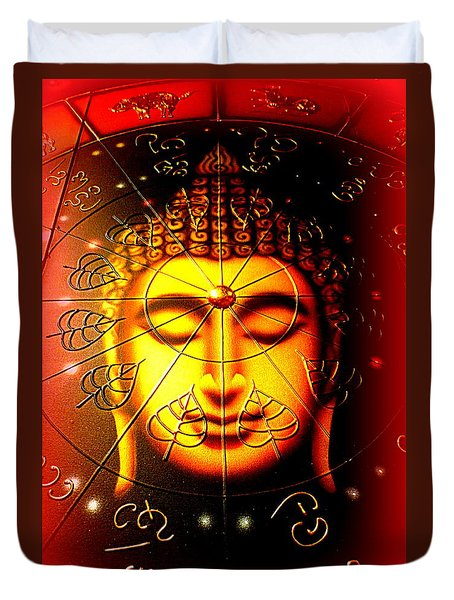 Buddha Duvet Cover by The Creative Minds Art and Photography