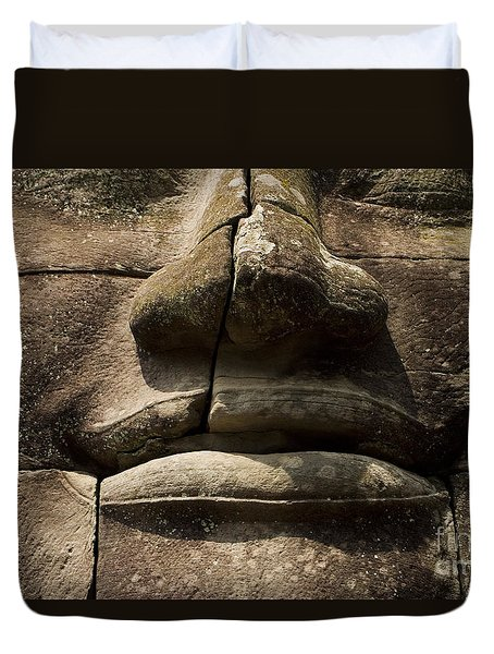 Duvet Cover featuring the photograph Buddha's Compassion by J L Woody Wooden
