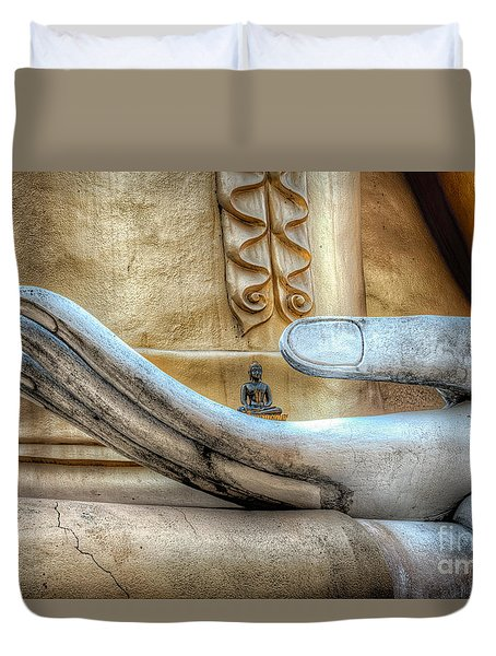 Duvet Cover featuring the photograph Buddha's Hand by Adrian Evans