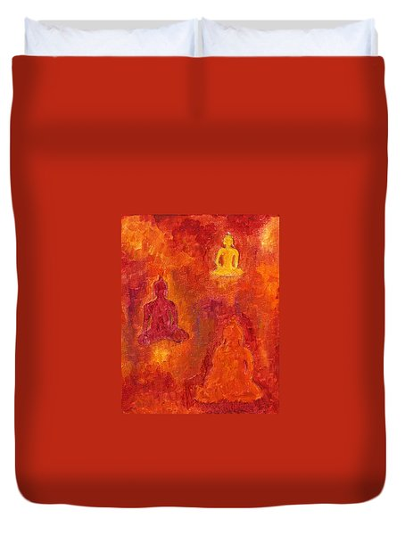 Buddhas Of Compassion Duvet Cover