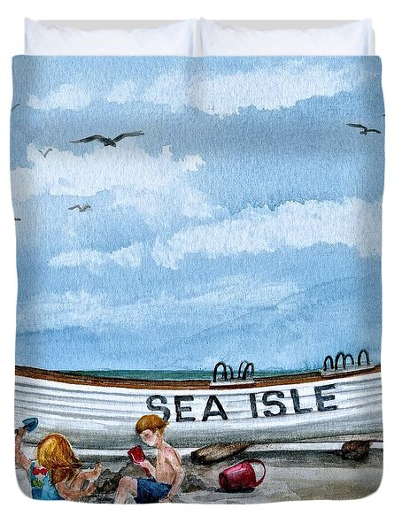 Buddies In Sea Isle City 2 Duvet Cover