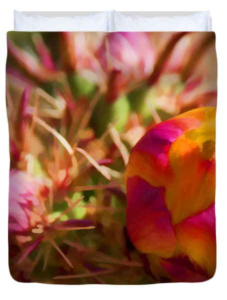 Budding Cactus Duvet Cover by Fred Larson