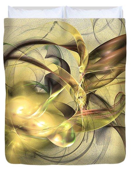 Budding Fruit - Abstract Art Duvet Cover