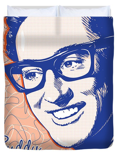 Buddy Holly Pop Art Duvet Cover