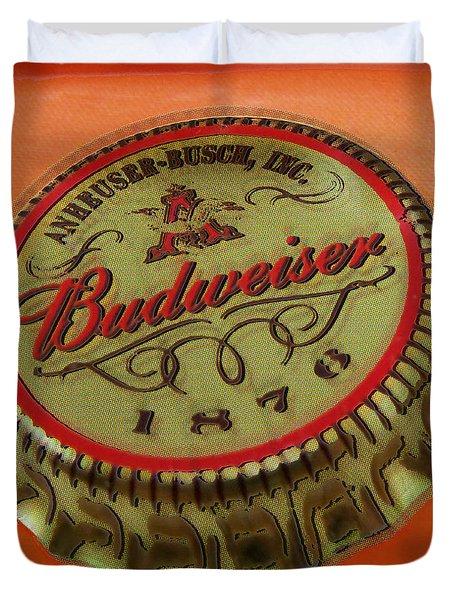 Budweiser Cap Duvet Cover