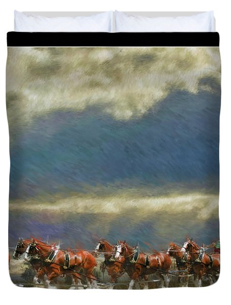Budweiser Clydesdale Paint 2 Duvet Cover