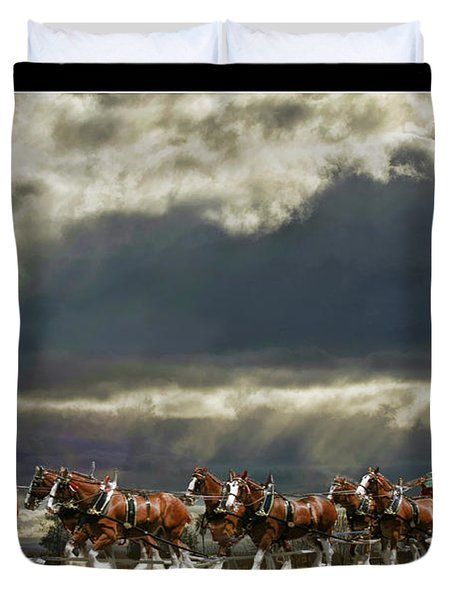 Budweiser Clydesdales Duvet Cover