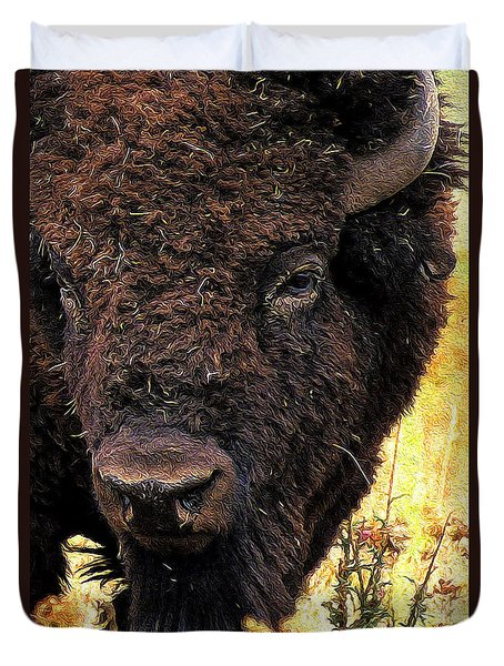 Ragweed Buffalo Duvet Cover