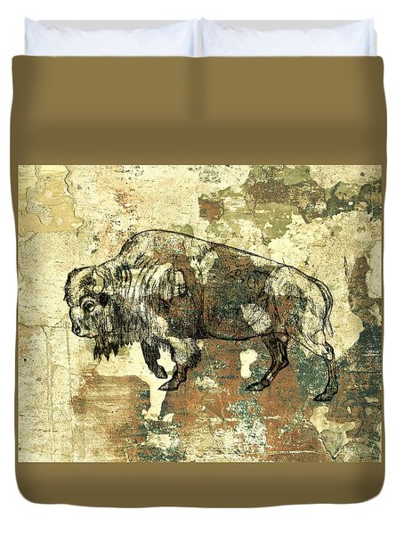 Buffalo 7 Duvet Cover by Larry Campbell