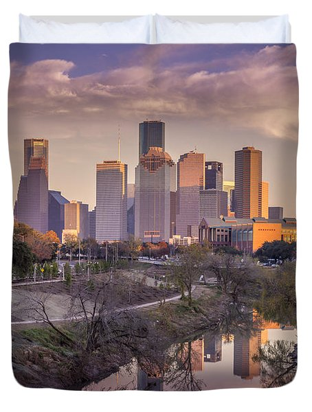 Buffalo Bayou Reflections Duvet Cover
