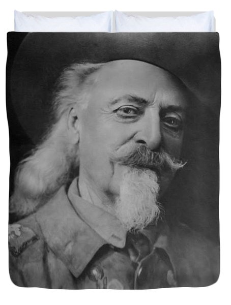 Duvet Cover featuring the photograph Buffalo Bill Cody by Charles Beeler
