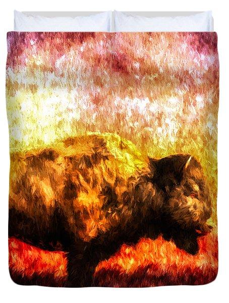 Buffalo Duvet Cover by Bob Orsillo