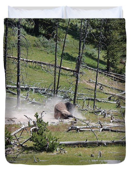 Buffalo Dust Bath Duvet Cover