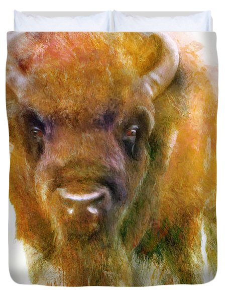 Da176 Buffalo II Daniel Adams Duvet Cover