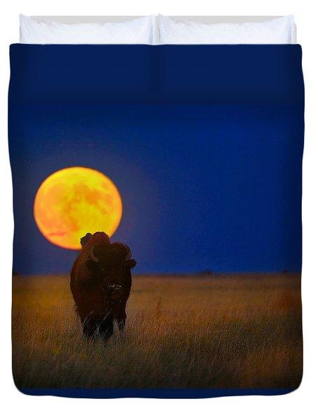 Buffalo Moon Duvet Cover by Kadek Susanto
