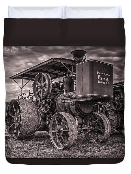 Buffalo Pitts Steam Traction Engine Duvet Cover