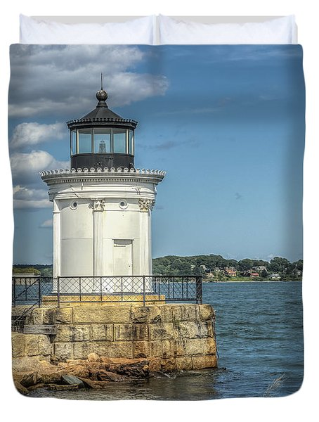 Duvet Cover featuring the photograph Bug Light by Jane Luxton