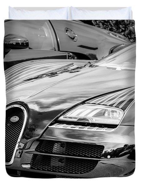 Bugatti Legend - Veyron Special Edition -0845bw Duvet Cover