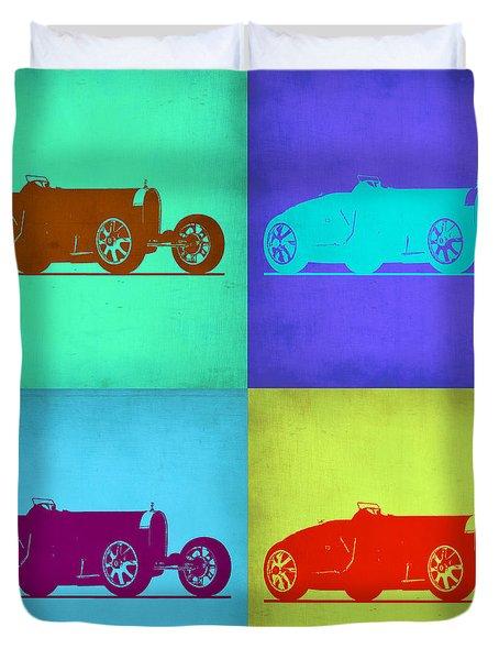 Bugatti Type 35 R Pop Art 1 Duvet Cover by Naxart Studio