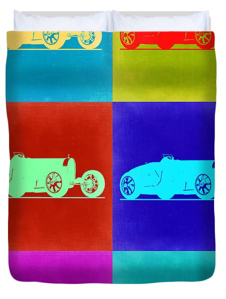 Bugatti Type 35 R Pop Art 2 Duvet Cover