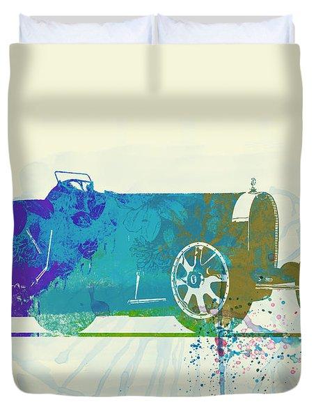 Bugatti Type 35 R Watercolor Duvet Cover
