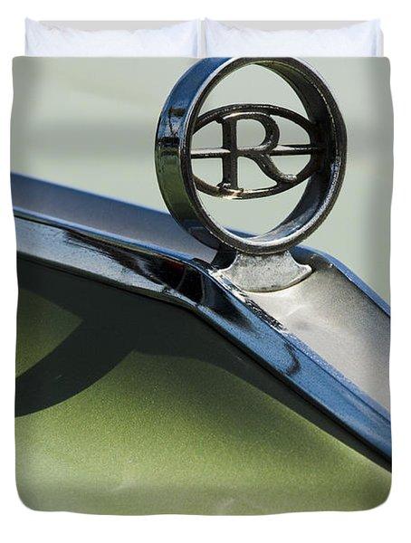 Buick Riviera Hood Ornament Duvet Cover by Jill Reger
