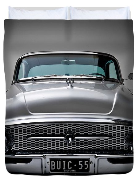 Buick Roadmaster 1955 Duvet Cover by Gianfranco Weiss