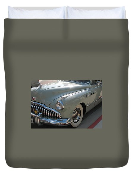 Duvet Cover featuring the photograph Buick Roadmaster by Connie Fox