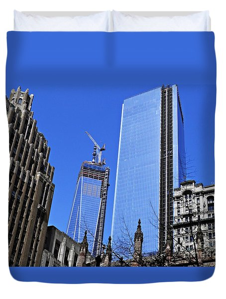 Building Freedom Duvet Cover by Sarah Loft