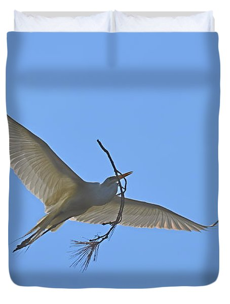 Duvet Cover featuring the photograph Building Material by Judith Morris