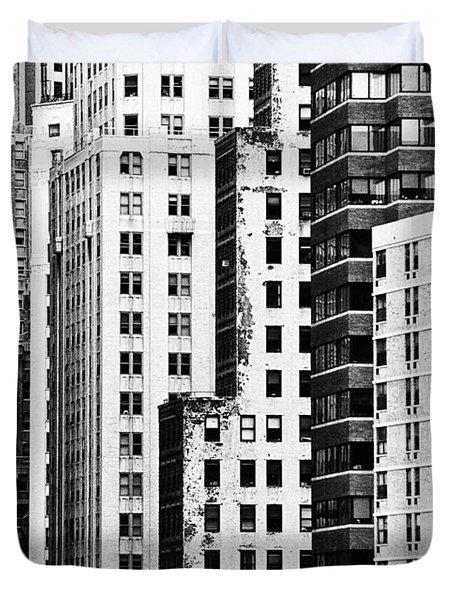 Buildings Bw Duvet Cover by Bruce Bain