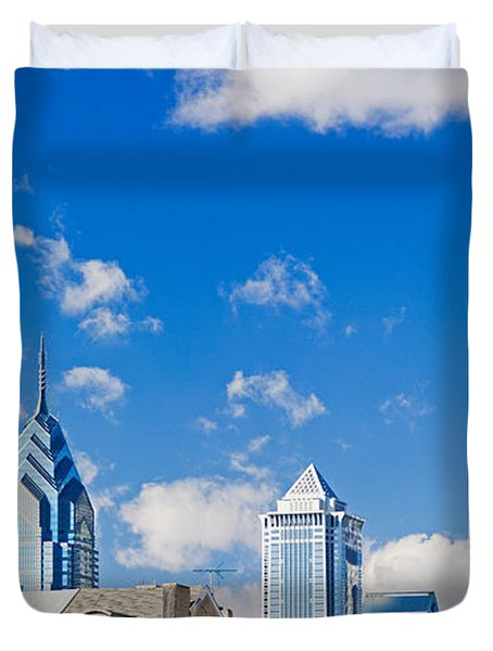 Buildings In A City, Chinatown Area Duvet Cover
