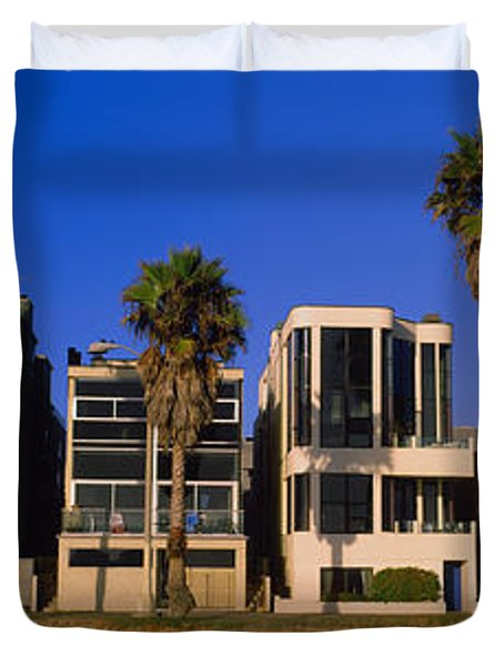 Buildings In A City, Venice Beach, City Duvet Cover