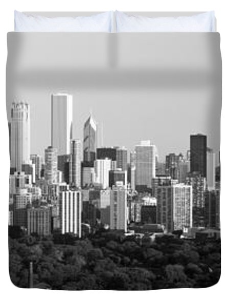 Buildings In A City, View Of Hancock Duvet Cover