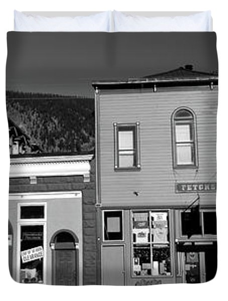 Buildings In A Town, Old Mining Town Duvet Cover