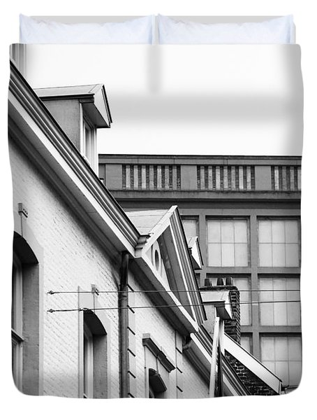 Duvet Cover featuring the photograph Buildings In Maastricht by Nick  Biemans