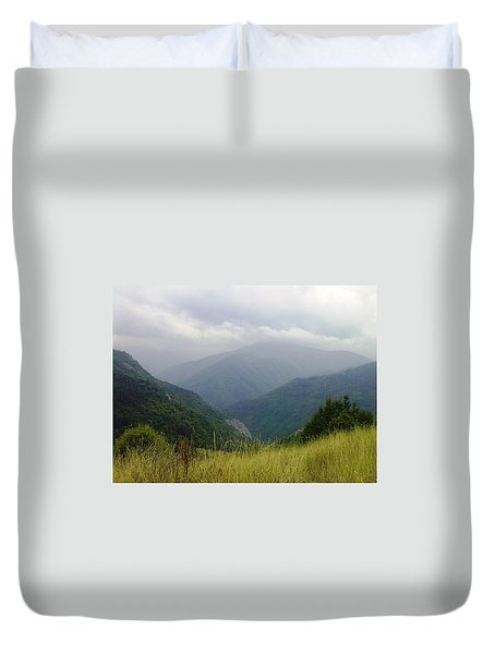 Duvet Cover featuring the photograph Bulgaria  Rodope Mountain by Nina Mitkova