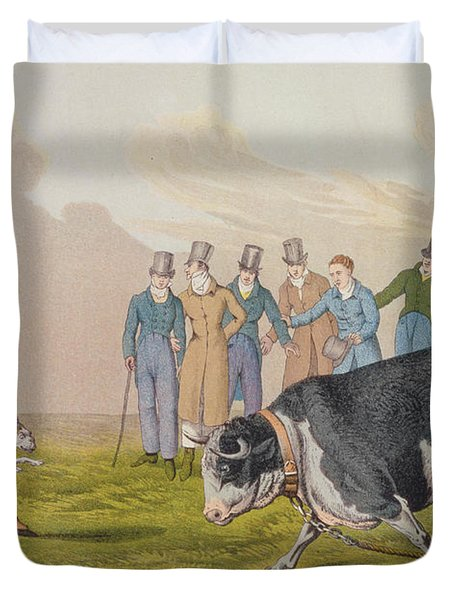Bull Baiting Duvet Cover by Henry Thomas Alken