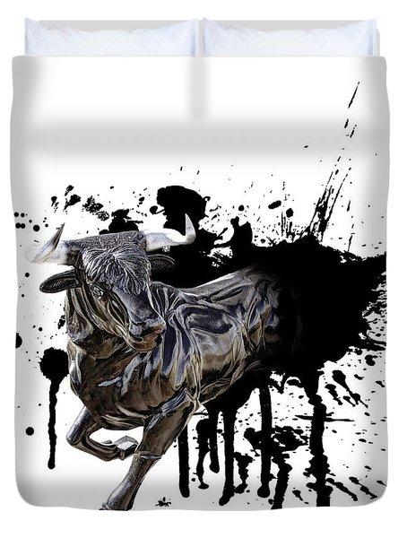 Bull Breakout Duvet Cover by Daniel Hagerman