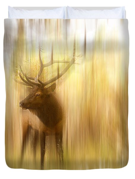 Bull Elk Forest Gazing Duvet Cover by James BO  Insogna