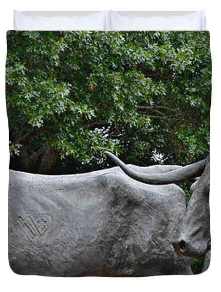 Bull Market Quadriptych 2 Of 4 Duvet Cover by Christine Till