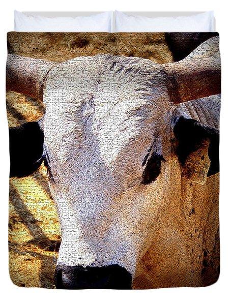 Bull Riders - Nightmare - Rodeo Bull Duvet Cover