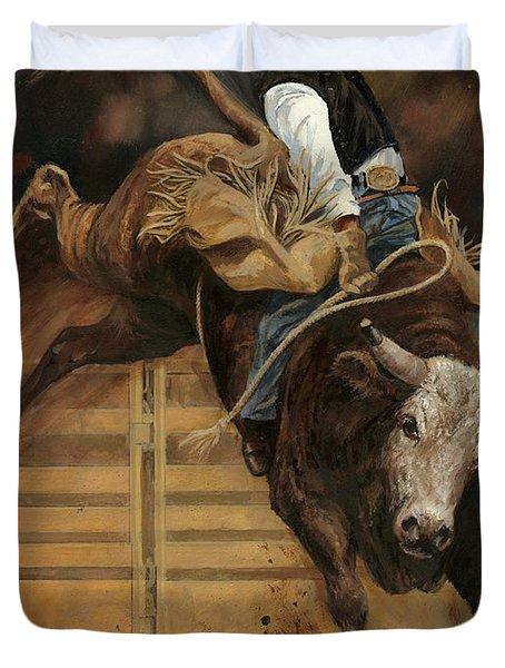 Bull Riding 1 Duvet Cover