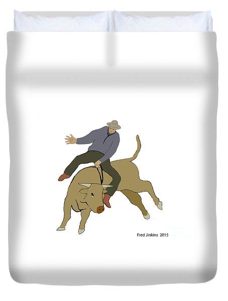 Bull Riding Duvet Cover