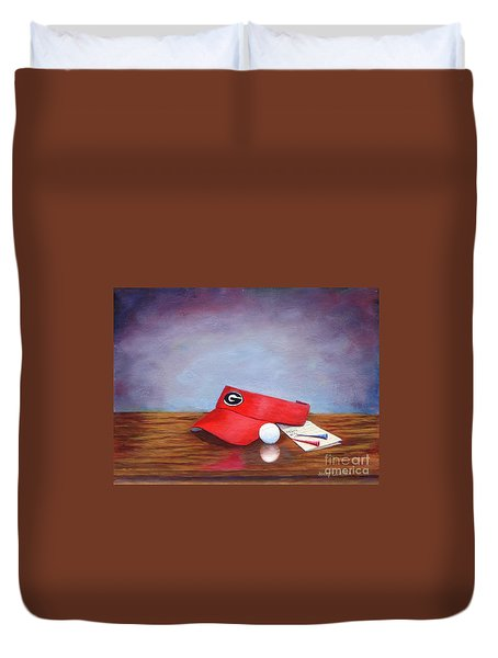 Bulldog Golf Duvet Cover